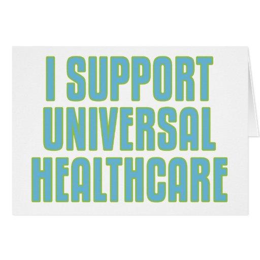 Apoyo atención sanitaria universal tarjeta de felicitación