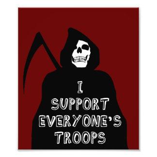 Apoyo cada uno las tropas cojinete
