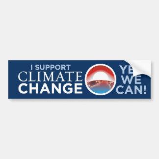 Apoyo clima Cambio-Obama-como pegatina para el par Pegatina Para Auto