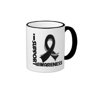 Apoyo conciencia del cáncer de piel taza de café