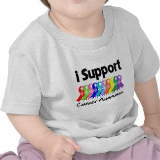 Apoyo conciencia del cáncer camisetas