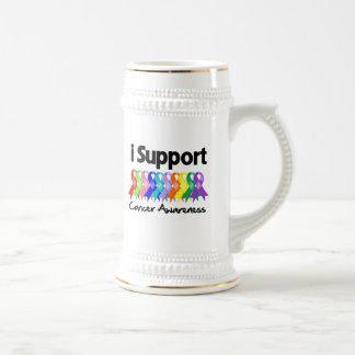 Apoyo conciencia del cáncer tazas
