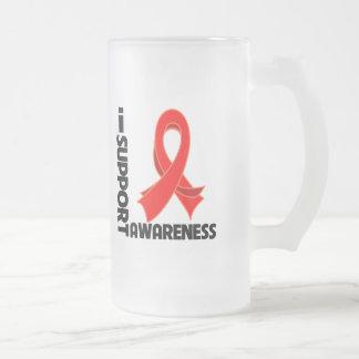 Apoyo conciencia del SIDA Taza De Cristal