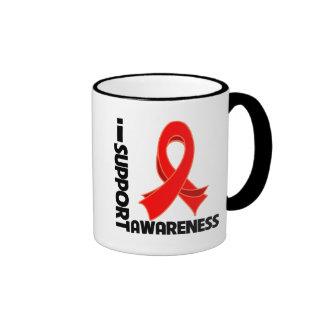 Apoyo conciencia del SIDA Taza De Dos Colores