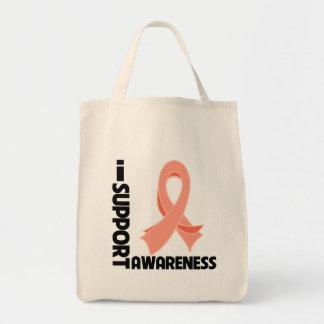 Apoyo conciencia uterina del cáncer bolsas lienzo