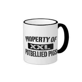 Apoyo de la taza barrigona de los cerdos