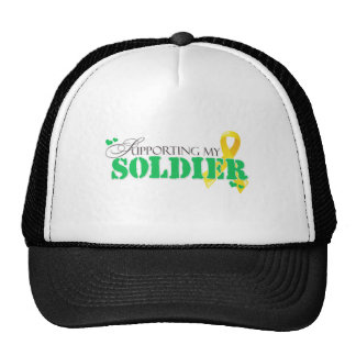 Apoyo de mi soldado gorros bordados
