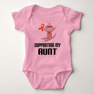 Apoyo de mi tía Orange Awareness Ribbon Body Para Bebé