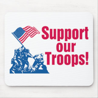 Apoyo de nuestras tropas tapetes de raton