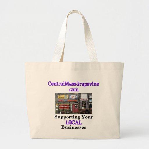 Apoyo de sus negocios locales bolsa tela grande
