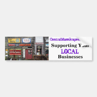 Apoyo de sus negocios locales etiqueta de parachoque
