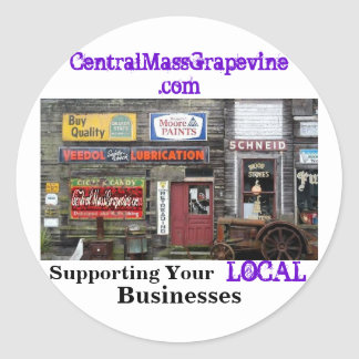 Apoyo de sus negocios locales pegatina redonda