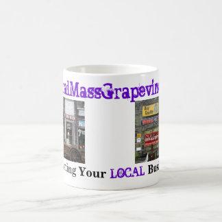 Apoyo de sus negocios locales taza de café