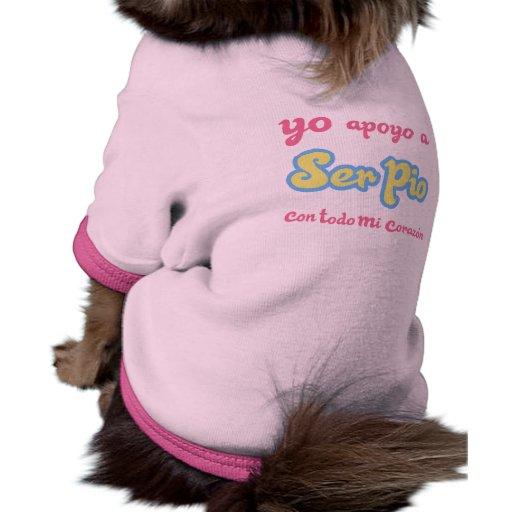 Apoyo de Yo un ser pio Camisetas De Mascota