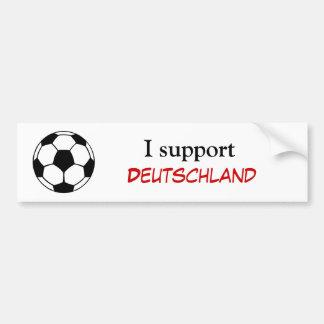 Apoyo Deutschland Etiqueta De Parachoque