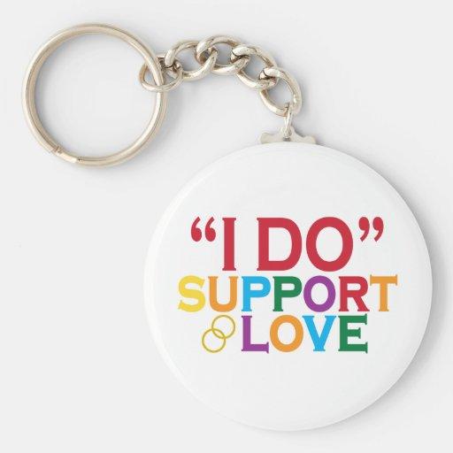 Apoyo el amor (apoyo 8) llavero redondo tipo pin