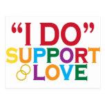 Apoyo el amor (apoyo 8) tarjetas postales