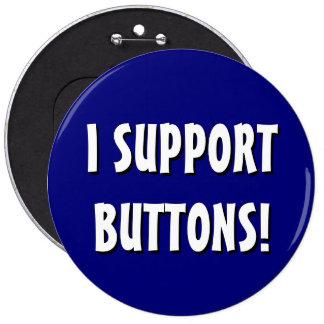 """""""Apoyo"""" el botón del Mongo (azul, 6 pulgadas) Pin"""