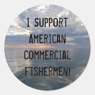Apoyo el Fis comercial americano… Pegatina Redonda