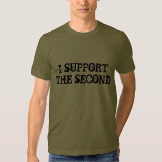 Apoyo el segundo camisetas playeras