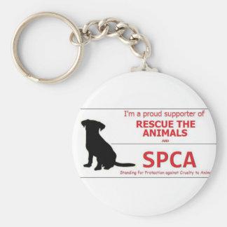 """""""Apoyo el SPCA… """" Llavero Redondo Tipo Pin"""