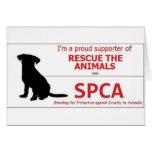 """""""Apoyo el SPCA… """" Tarjetas"""