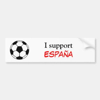 Apoyo España Pegatina De Parachoque