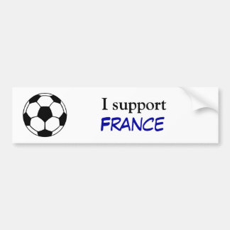 Apoyo Francia Etiqueta De Parachoque