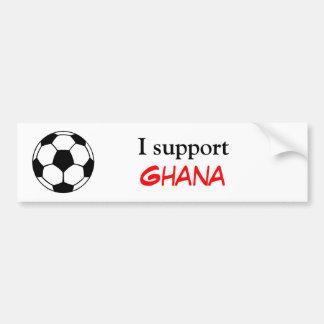 Apoyo Ghana Pegatina De Parachoque