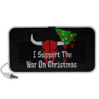 Apoyo guerra en navidad mini altavoces
