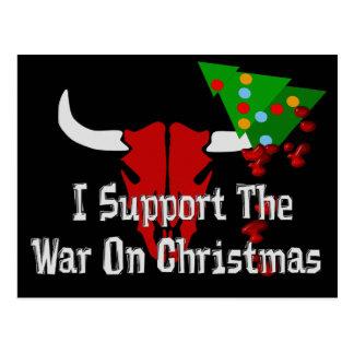 Apoyo guerra en navidad tarjeta postal