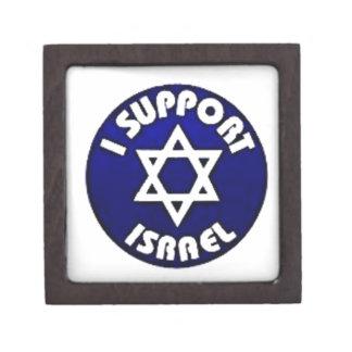 Apoyo Israel - estrella del מגןדוד de David Cajas De Recuerdo De Calidad
