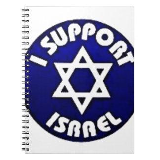 Apoyo Israel - estrella del מגןדוד de David Libros De Apuntes Con Espiral