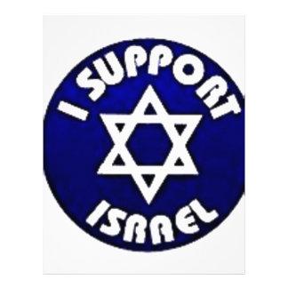 Apoyo Israel - estrella del מגןדוד de David Membretes Personalizados