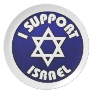 Apoyo Israel - estrella del מגןדוד de David Platos De Comidas
