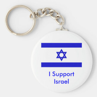 Apoyo Israel Llavero Redondo Tipo Pin