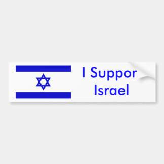 Apoyo Israel Pegatina Para Auto