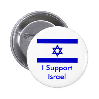 Apoyo Israel Pin Redondo 5 Cm