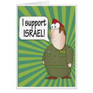 Apoyo Israel - soldado del israelí de la tarjeta d