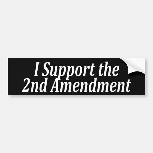 Apoyo la 2da enmienda pegatina para auto