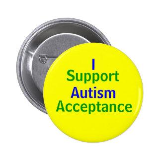 Apoyo la aceptación del autismo pin redondo 5 cm
