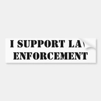 Apoyo la aplicación de ley pegatina para auto