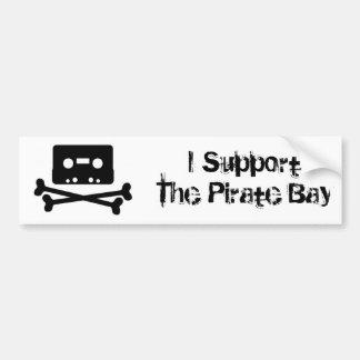Apoyo la bahía del pirata pegatina para auto