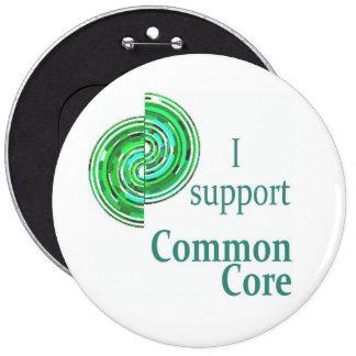 Apoyo la base común, botón redondo de los 6in pins