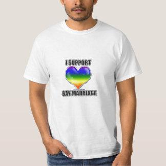 Apoyo la camiseta del matrimonio homosexual poleras