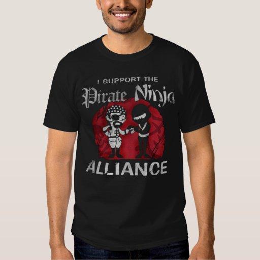 Apoyo la camiseta del negro de la alianza del playera
