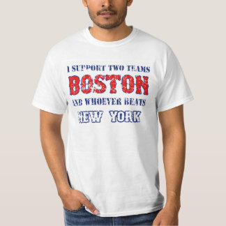Apoyo la camiseta divertida del béisbol de Boston Playeras