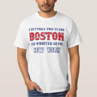 Apoyo la camiseta divertida del béisbol de Boston Remeras