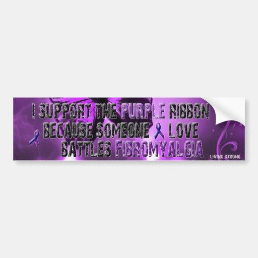 Apoyo la cinta púrpura etiqueta de parachoque