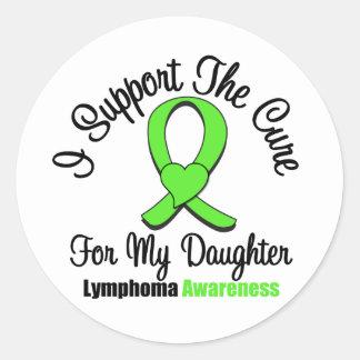 Apoyo la curación para mi hija pegatina redonda